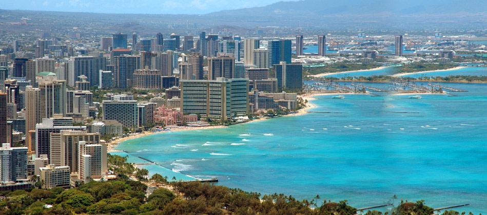 image of Honolulu Hawaii coastline